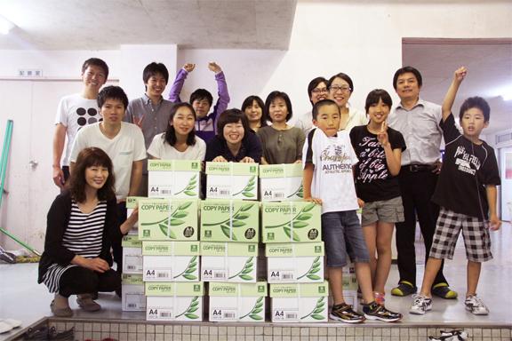2013年女川向学館 APPジャパン コピー用紙寄贈