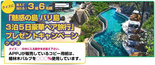 インドネシア・バリ島 3泊5日ペア旅行券イメージ画像